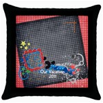 Vacation/Magic-Throw Pillow Case (Black)