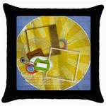 Vacation-Throw Pillow Case (Black)