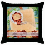 Happiness-Throw Pillow Case (Black)