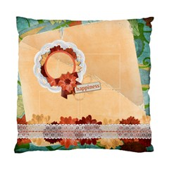 Floral/happiness Custom Cushion Case (two Sides)  By Mikki   Standard Cushion Case (two Sides)   Gizsg88ygvh6   Www Artscow Com Front