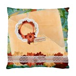 Floral/Happiness-Custom Cushion Case (Two Sides)  - Standard Cushion Case (Two Sides)