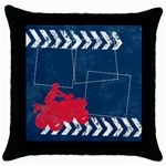4-wheeling/extreme-Throw Pillow Case (Black)