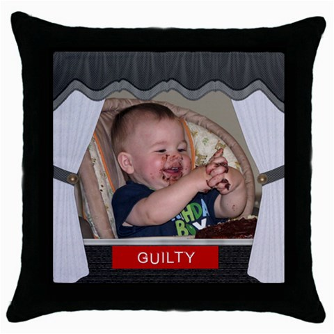 Guilty Throw Pillow Case By Lil    Throw Pillow Case (black)   2hp973g21k40   Www Artscow Com Front