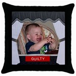 Guilty Throw Pillow Case - Throw Pillow Case (Black)
