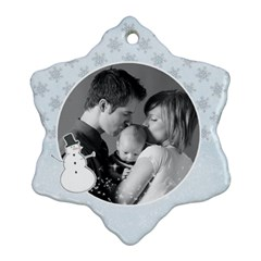 Snowman Custom Snowflake Ornament (two Sides)  By Mikki   Snowflake Ornament (two Sides)   9wd22la4r11k   Www Artscow Com Front