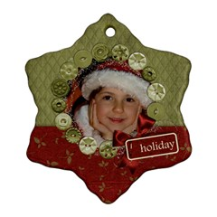 Holiday Custom Snowflake Ornament (two Sides)  By Mikki   Snowflake Ornament (two Sides)   Xf6tgfmfxhdk   Www Artscow Com Front
