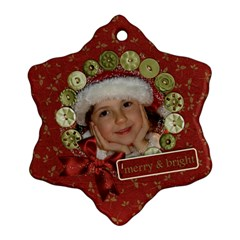 Holiday Custom Snowflake Ornament (two Sides)  By Mikki   Snowflake Ornament (two Sides)   Xf6tgfmfxhdk   Www Artscow Com Back