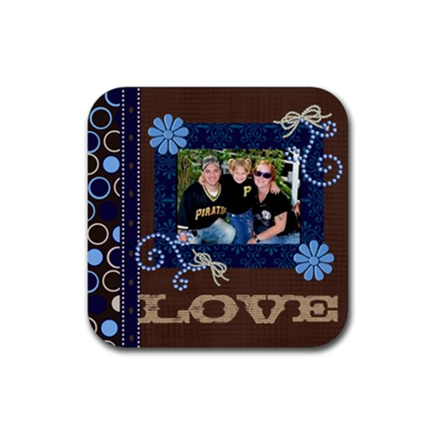 Family Love By Millie Kovatch   Rubber Square Coaster (4 Pack)   S56gioyom8f1   Www Artscow Com Front