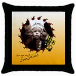 You are my sunshine - pillow - Throw Pillow Case (Black)
