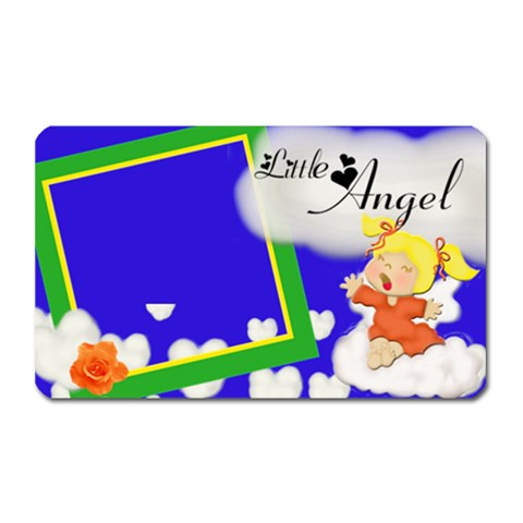 Little Angel Magnet By Jaimie Lanier   Magnet (rectangular)   Vy96ilbl4m7t   Www Artscow Com Front