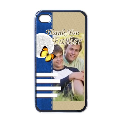 Thank You Father By Joely   Apple Iphone 4 Case (black)   Ok2qdj5fbfu7   Www Artscow Com Front