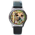 pet  - Round Metal Watch