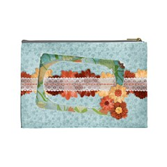 Floral Breeze Custom Cosmetic Bag (l)  By Mikki   Cosmetic Bag (large)   Xwqn0fzf8dke   Www Artscow Com Back
