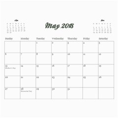 Floral Breeze  Custom Photo Calendar 11 X 8 5(12 Months) By Mikki   Wall Calendar 11  X 8 5  (12 Months)   N8hr9a0clmdl   Www Artscow Com May 2018