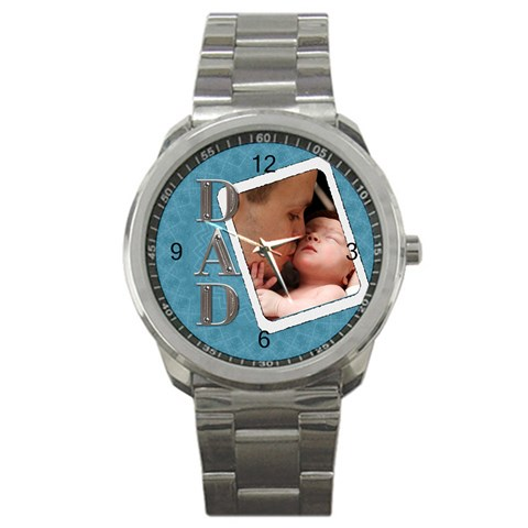 For Dad Sport Metal Watch By Lil    Sport Metal Watch   Dcfu3rxnzdi5   Www Artscow Com Front
