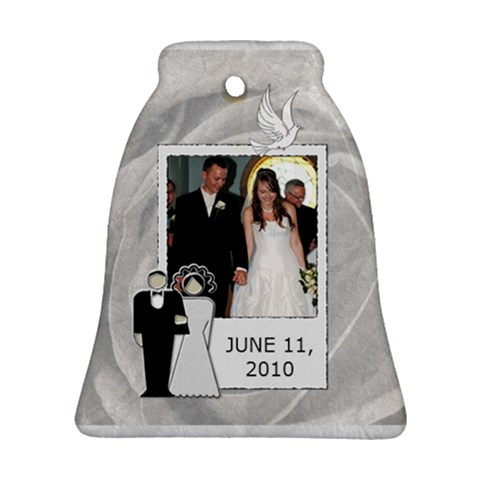 Wedding Date Bell Ornament by Lil Front