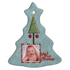 Baby s First Christmas Double Sided Tree Ornament By Catvinnat   Christmas Tree Ornament (two Sides)   Zcwcxl1uhbuq   Www Artscow Com Front