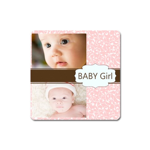 Baby Girl By Joely   Magnet (square)   Lgw7zy8rwrhm   Www Artscow Com Front