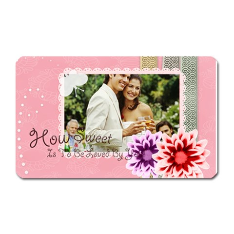 Wedding By Joely   Magnet (rectangular)   T2vm8ct3o6vv   Www Artscow Com Front