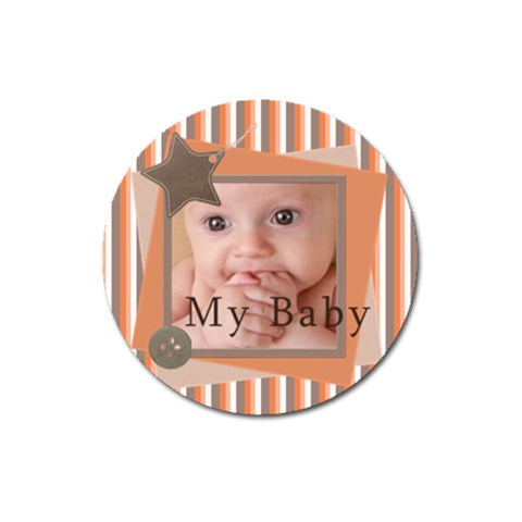 Our Baby By Joely   Magnet 3  (round)   7h6ih8t3rolw   Www Artscow Com Front