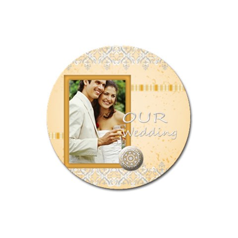 Wedding By Joely   Magnet 3  (round)   Pv6tgmfj3ayf   Www Artscow Com Front
