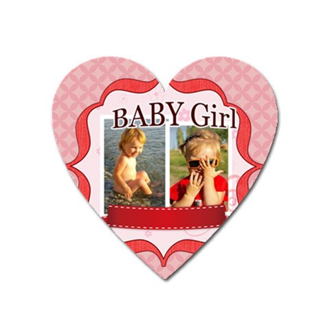 Baby Girl By Joely   Magnet (heart)   Yfnc3ar08h19   Www Artscow Com Front