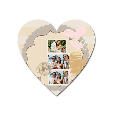 Love By Joely   Magnet (heart)   Web8a261r2ly   Www Artscow Com Front