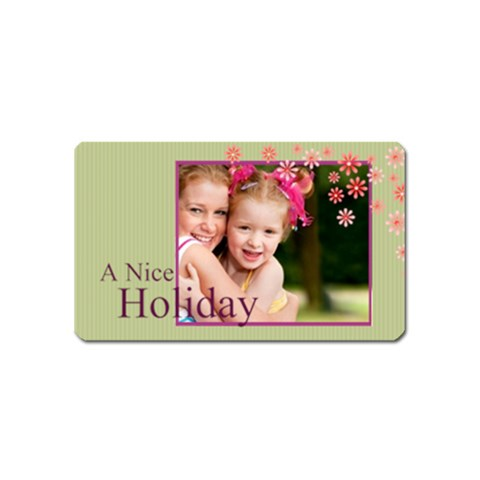 A Nice Holiday By Joely   Magnet (name Card)   8widt7clj7mp   Www Artscow Com Front