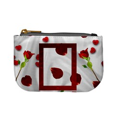 roses and hearts mini coin purse by Kim Blair Front