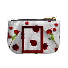 roses and hearts mini coin purse by Kim Blair Back