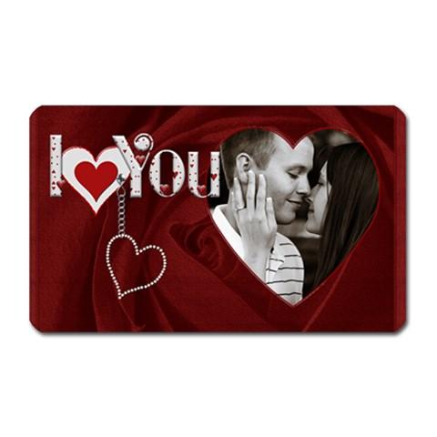 I Love You Rectangle Magnet By Lil    Magnet (rectangular)   5o4m5g8l01kv   Www Artscow Com Front
