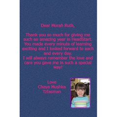 Morah Ruth By Chani Tzfasman   5 5  X 8 5  Notebook   R0mwi9iarbf1   Www Artscow Com Back Cover Inside