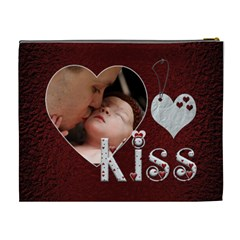 Sweet Kiss Xl Cosmetic Bag By Lil    Cosmetic Bag (xl)   Wjzi2qe5f62y   Www Artscow Com Back