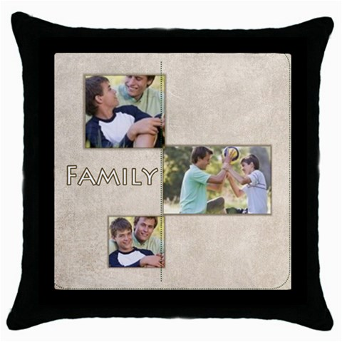 Family By Joely   Throw Pillow Case (black)   5zs04dzqdcj9   Www Artscow Com Front
