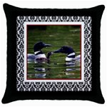 loon1 - Throw Pillow Case (Black)