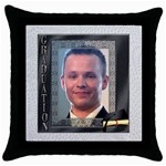 Graduation Throw Pillow Case - Throw Pillow Case (Black)