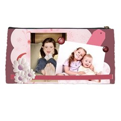 Pink Kids By Wood Johnson   Pencil Case   Ehbqojrcpr2l   Www Artscow Com Back