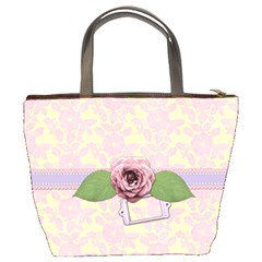 Flower Love Bag By Shelly   Bucket Bag   Wv0019pjs76w   Www Artscow Com Back