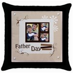 fathers day - Throw Pillow Case (Black)