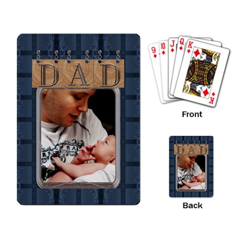 To Dad Playing Cards By Lil    Playing Cards Single Design   Sfgn128xp8wo   Www Artscow Com Back