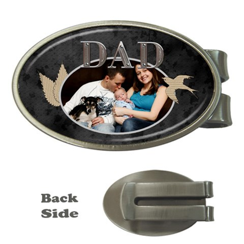 Dad Money Clip By Lil    Money Clip (oval)   Djhof3i5ikxd   Www Artscow Com Front