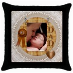 #1 Dad Throw Pillow Case - Throw Pillow Case (Black)