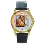 I Love Dad Gold Watch - Round Gold Metal Watch