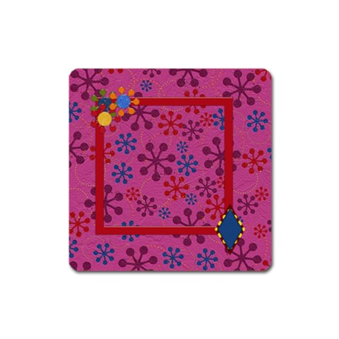 Abc Jump Square Magnet 1 By Lisa Minor   Magnet (square)   H6nxr8seiwn9   Www Artscow Com Front