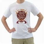 u tribe cult status custom White T-Shirt