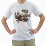 motor cruise night vintage motor sport White T-Shirt