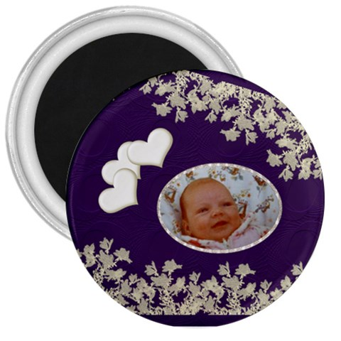 Bliss Round Button Magnet By Kdesigns   3  Magnet   Grne116d69on   Www Artscow Com Front