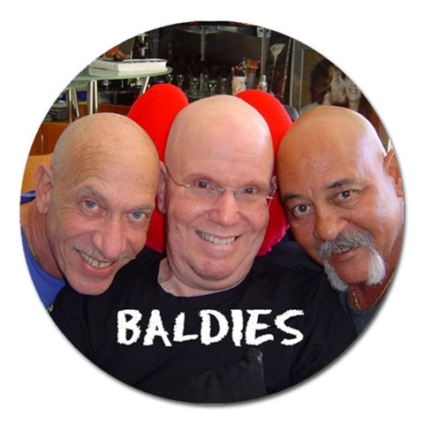 Baldies By Marcel Goldfarb   Magnet 5  (round)   624x0fjekgdx   Www Artscow Com Front