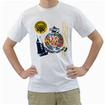 navy sailing adventure design custom White T-Shirt