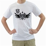 double phoenix wing design custom White T-Shirt